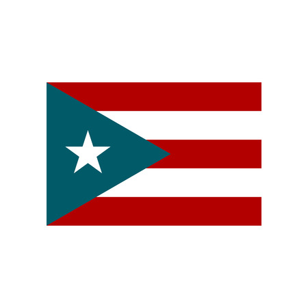 Vector Puerto Rican Flag Isolated On White Background