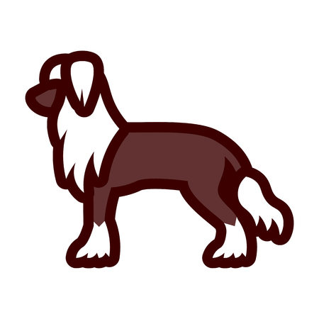 Vector Chinese Crested Dog Icon Isolated On White Background