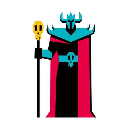 Vector RPG Medieval Fantasy Dark Lord Character Isolated