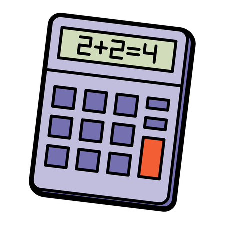 Vector Calculator Icon Isolated On White Background 向量圖像