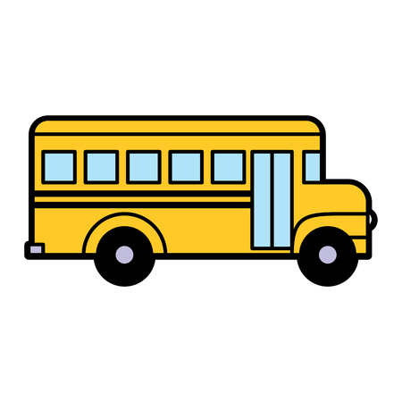 Vector School Bus Icon Isolated On White Background 向量圖像