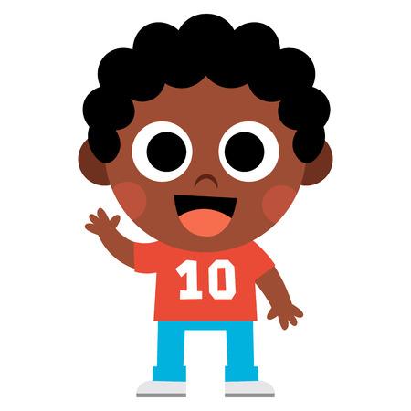 Cartoon Cute Kid Isolated
