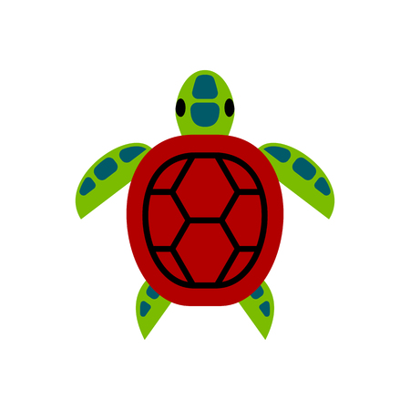 Vector Cartoon Sea Turtle Icon Isolated On White Background 向量圖像