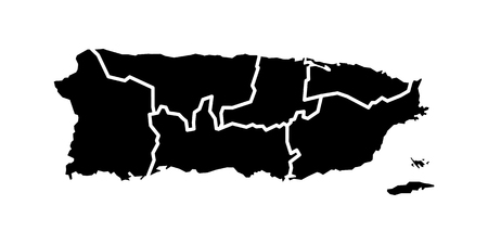 Vector Puerto Rico Map Isolated On White Background Illustration