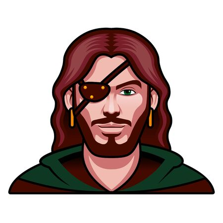 Medieval Fantasy Rogue Character Illustration Isolated Illustration