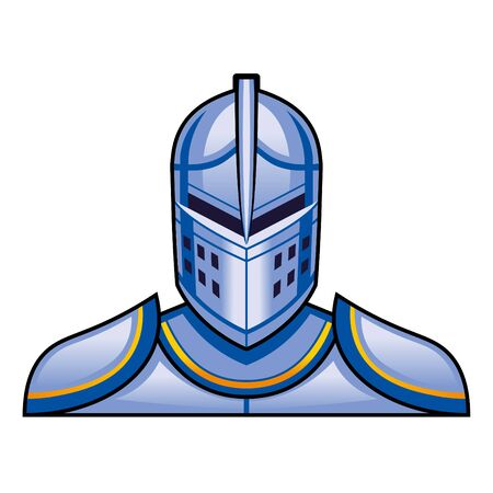 Medieval Fantasy Knight Character Illustration Isolated