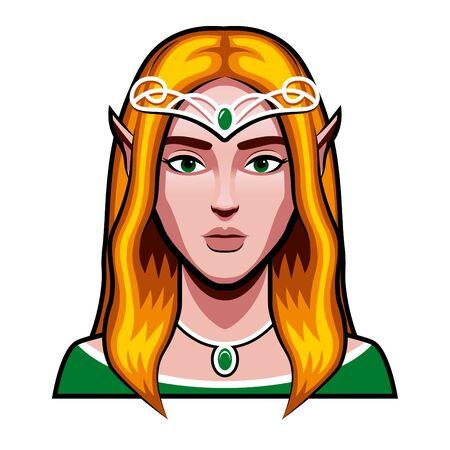 Medieval Fantasy Elf Character Illustration Isolated Illustration