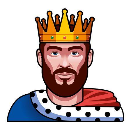 Medieval Fantasy King Character Illustration Isolated Illustration