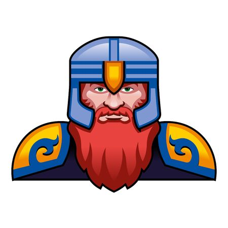 Medieval Fantasy Dwarf Character Illustration Isolated