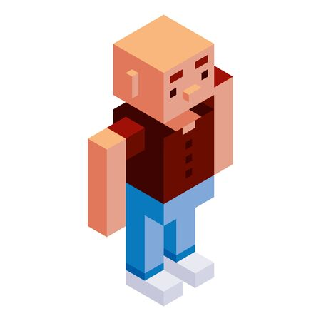 Vector Cartoon Low Poly Man Character