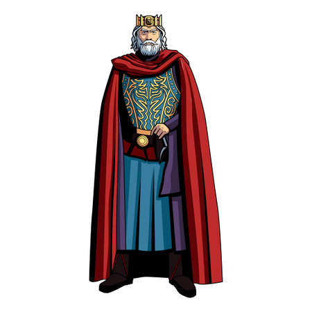 Isolated king character. Fictional and mythological characters - Vector
