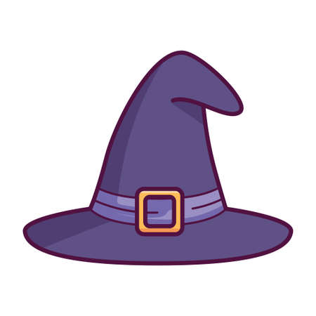 Isoalted witch hat icon. Halloween icon - Vector