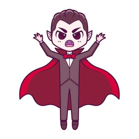 Isolated vampire cartoon kawaii. Halloween - Vector illustration