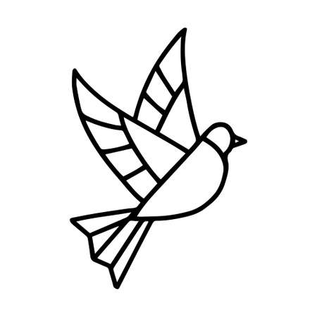 Isolated dove in stained glass - Vector illustration