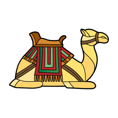 Isolated camel in stained glass - Vector illustration