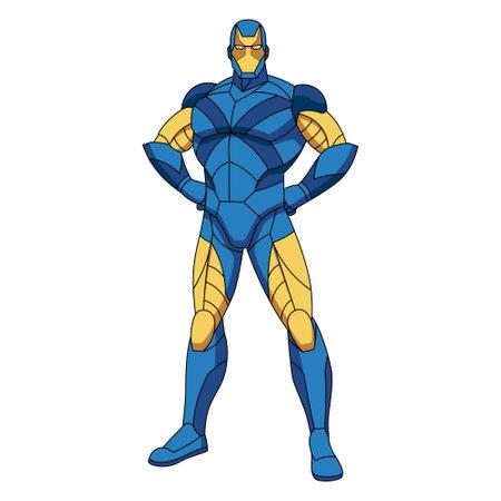Isolated cartoon of a superhero - Vector illustration 矢量图像