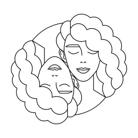 Isolated gemini symbol Western zodiac signs Vector illustration