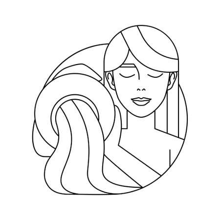 Isolated aquarius symbol Western zodiac signs Vector illustration 矢量图像