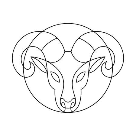 Isolated aries symbol Western zodiac signs Vector illustration