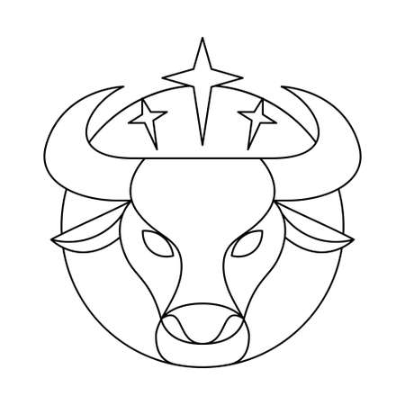 Isolated taurus symbol Western zodiac signs Vector illustration