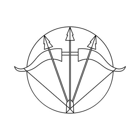 Isolated sagittarius symbol Western zodiac signs Vector illustration 矢量图像