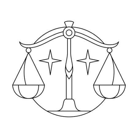 Isolated libra symbol Western zodiac signs Vector illustration