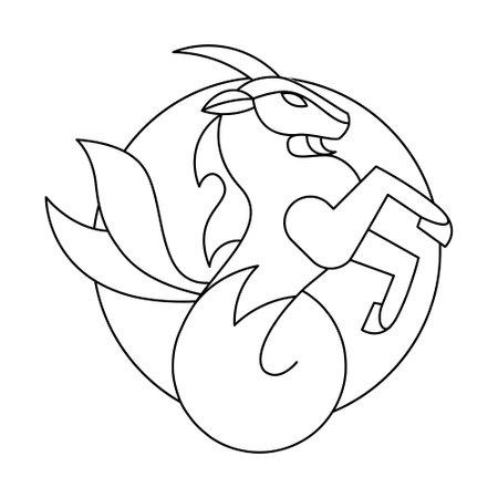 Isolated capricorn symbol Western zodiac signs Vector illustration 矢量图像
