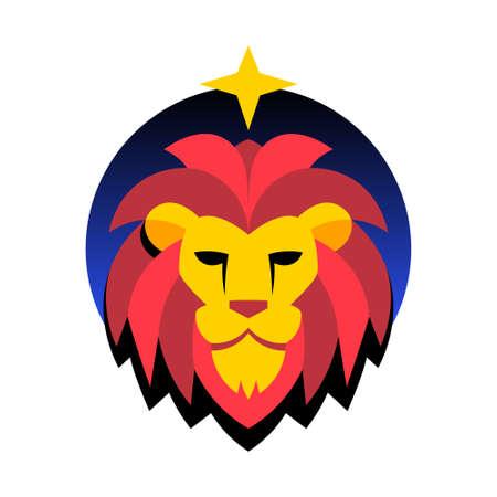 Isolated leo symbol Western zodiac signs Vector illustration