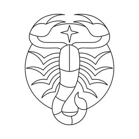 Isolated scorpio symbol Western zodiac signs Vector illustration