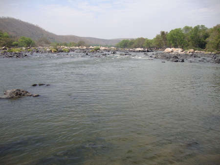beautiful river with less water to enjoy