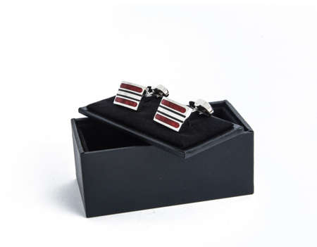 Pair of Cufflinks with Box 写真素材