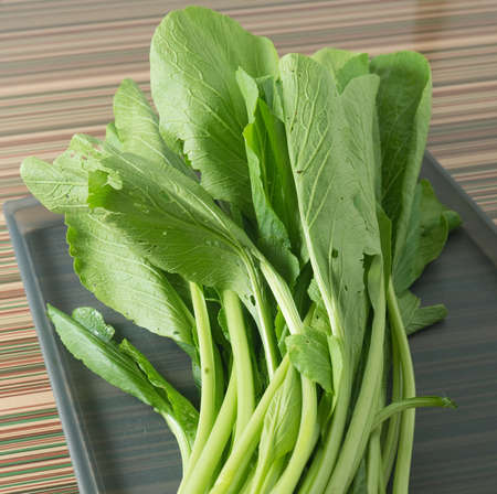 vegetable tray: Vegetable, Fresh Green Chinese Cabbage, Bok Choy, Pok Choi or Pak Choi on A Tray.