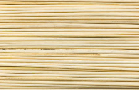 Horizontal Textured Background Made of Wooden Sticks or Wooden Skewers.