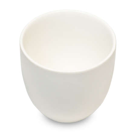 Cuisine and Food, A White Japanese Ceramic Tea Cup Used for Preparing and Drinking Tea Isolated on White Background.