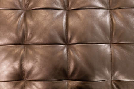 brown leather sofa: Background Pattern, Closed up of Abstract Texture of Brown Leather Sofa or Upholstery Background. Stock Photo