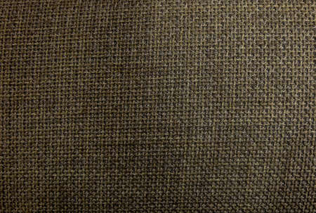 netty: Fabric Texture, Close Up of Dark Brown Sack or Burlap Fabric Texture Pattern Background. Stock Photo