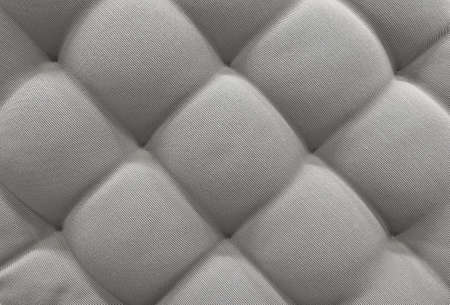 cushioning: Background Pattern, Closed up of Abstract Texture of Gray Fabric Sofa or Upholstery Background. Stock Photo