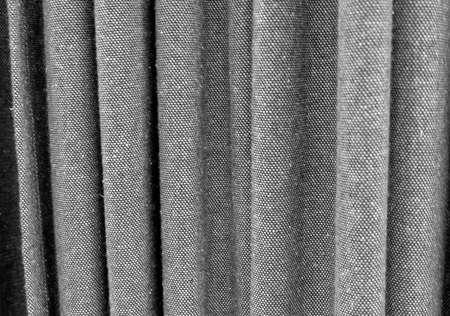 Black Curtain Texture fabric texture background, close up of black denim curtain. stock