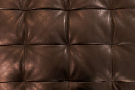 cushioning: Background Pattern, Closed Up of Abstract Texture of Luxury Brown Leather Sofa or Upholstery.