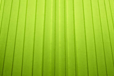 Fabric Texture, Close Up of Lime Green Pleated Textile Pattern Background with Light.