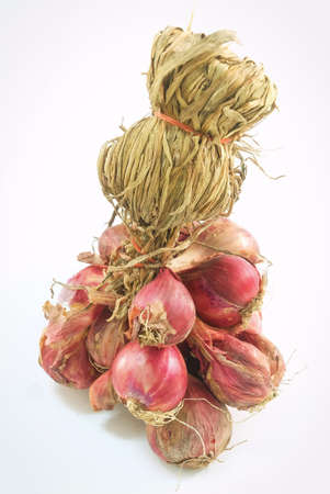 Vegetable and Herb, Bunch of Fresh Red Onions Used for Seasoning in Cooking.