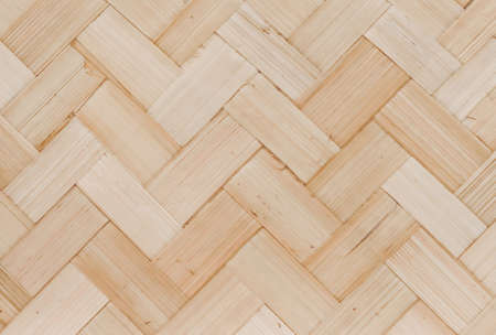 Background Pattern, Brown Square Handicraft Weave Texture Wicker of Bamboo Plant for Furniture Material.