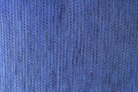 Textile Texture, Close Up of Blue Fabric Pattern Background with Copy Space for Text Decorated.