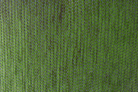 Textile Texture, Close Up of Green Fabric Pattern Background with Copy Space for Text Decorated. 写真素材
