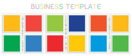 Business Concepts, Illustration of Colorful Set of Infographic Templates Pattern Element for Business Presentation.  イラスト・ベクター素材