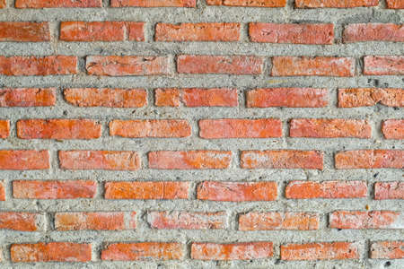 Background Pattern, The Horizontal Red Brick Wall Background or Texture.