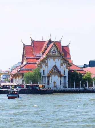 Wat Kalayanamitr Varamahavihara, The Temple on Thonburi West Bank of Chao Phraya River at Bangkok, Thailand.