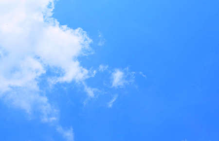 Background Pattern, Summer Blue Sky with White Clouds with Copy Space for Text Decorated. Stock Photo
