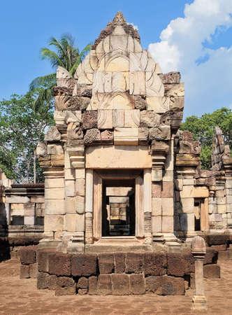 Prasat Sdok Kok Thom The Historical Park in Thailand with Shiva Lingam Pole