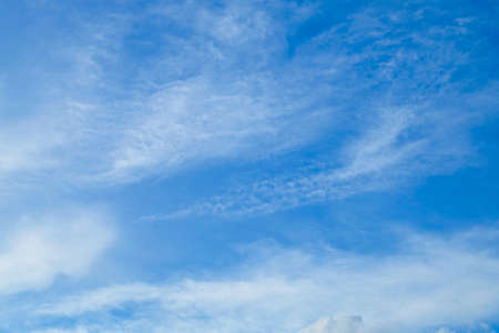 Background Pattern, Summer Blue Sky with Tiny White Clouds with Copy Space for Text Decorated. Stok Fotoğraf